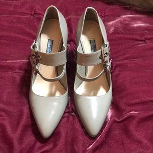 ✨Prada buckle platform heel